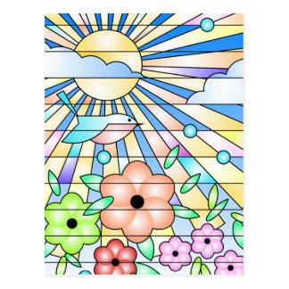 De Stralen en de Bloemen van de zon Briefkaart