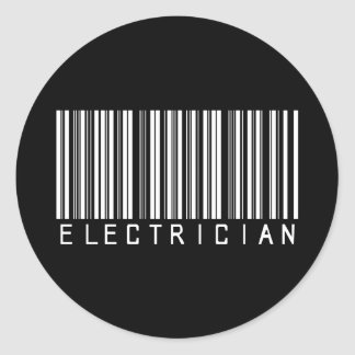 De Streepjescode van de elektricien Ronde Sticker