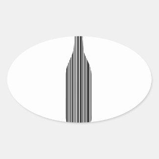 De streepjescode van de fles ovaalvormige stickers