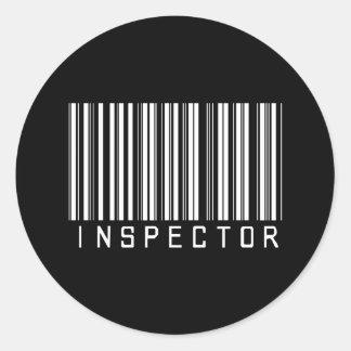 De Streepjescode van de inspecteur Ronde Sticker