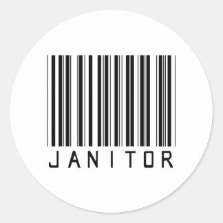 De Streepjescode van de portier Ronde Sticker