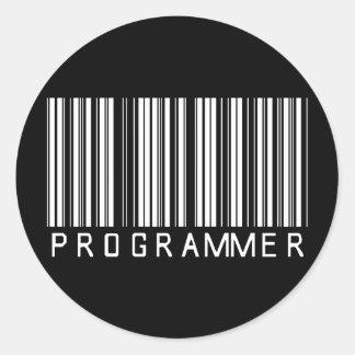 De Streepjescode van de programmeur Ronde Sticker