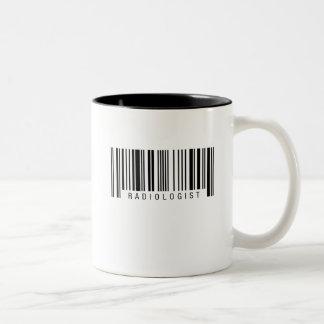 De Streepjescode van de radioloog Tweekleurige Koffiemok