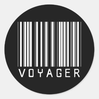 De Streepjescode van de reiziger Ronde Sticker