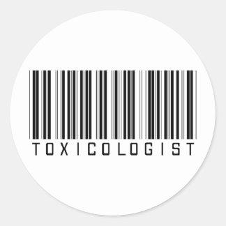 De Streepjescode van de toxicoloog Ronde Sticker