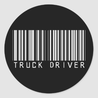 De Streepjescode van de vrachtwagenchauffeur Ronde Sticker