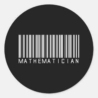De Streepjescode van de wiskundige Ronde Sticker
