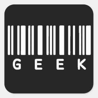 De Streepjescode van Geek Vierkante Sticker