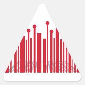 De Streepjescode van het perspectief Driehoekige Sticker