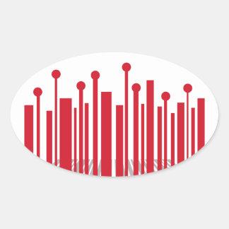 De Streepjescode van het perspectief Ovale Sticker