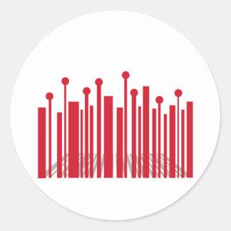 De Streepjescode van het perspectief Ronde Stickers