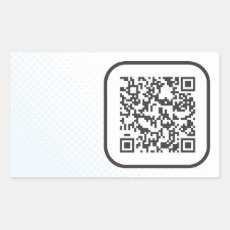 De streepjescode van Scannable QR Rechthoekige Sticker