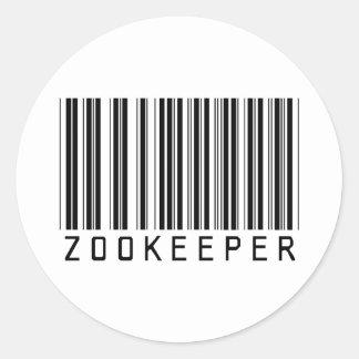 De Streepjescode van Zookeeper Ronde Sticker