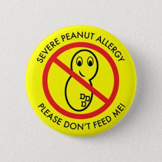 De strenge Knoop van de Allergie van de Pinda Ronde Button 5,7 Cm