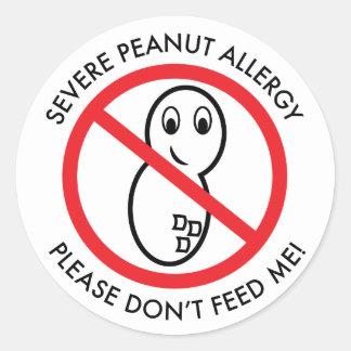 De strenge Sticker van de Allergie van de Pinda