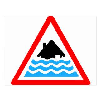 De strenge Waarschuwing van de Vloed Briefkaart