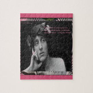 De Strepen die van Virginia Woolf W/Zebra Citaat Foto Puzzels