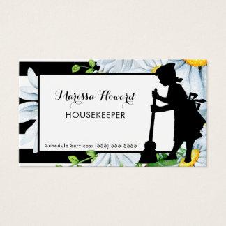 De Strepen en Daisy Floral Housekeeper van het Visitekaartjes