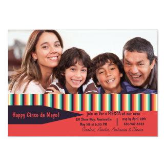 De Strepen van de Foto van Cinco DE Mayo 12,7x17,8 Uitnodiging Kaart