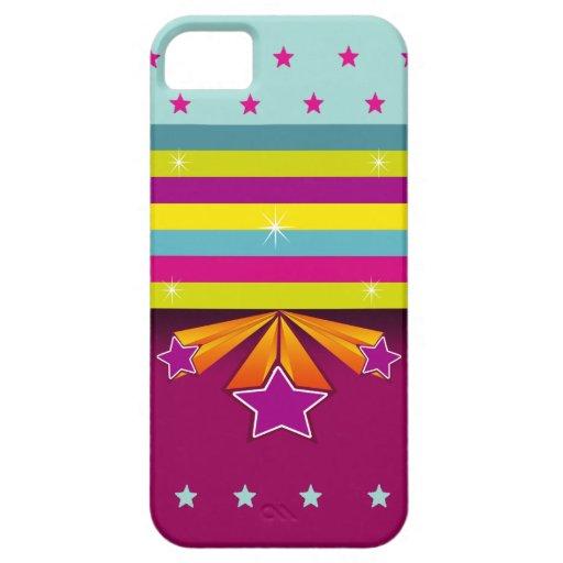 De Strepen van de kleur & Vector tri-Ster iPhone 5 Case-Mate Hoesjes
