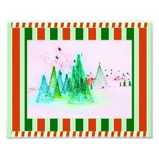 De Strepen van het Riet van de kerstboom en van Foto Afdruk