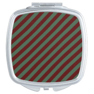 De Strepen van Kerstmis Make-up Spiegel