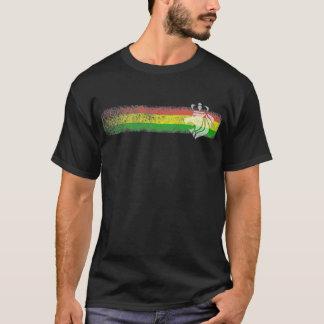 De Strepen van Reggae van Rasta met Bekroonde T Shirt