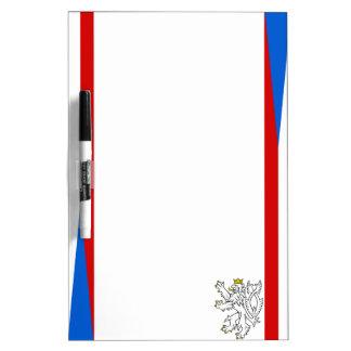 De strepenvlag van de Tsjechische Republiek Whiteboards