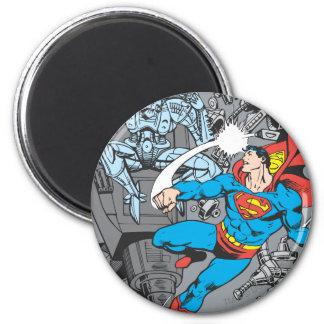 De Strijden Brainiac van de superman Ronde Magneet 5,7 Cm