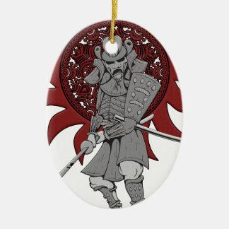 De Strijder Japan van samoeraien Keramisch Ovaal Ornament