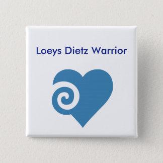 De Strijder van Dietz van Loeys Vierkante Button 5,1 Cm