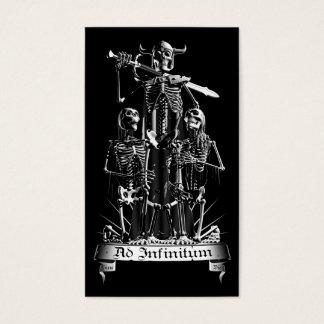 De Strijder van het skelet Visitekaartjes