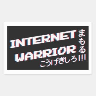 De Strijder van Internet Rechthoekige Sticker