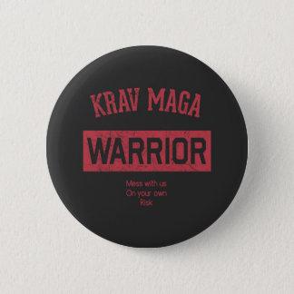 De Strijder van Maga van Krav Ronde Button 5,7 Cm
