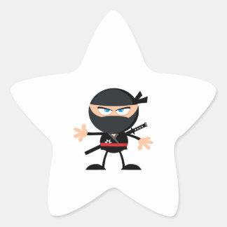 De Strijder van Ninja van de cartoon Ster Sticker