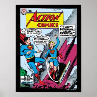 De Strippagina van de actie #252 Poster