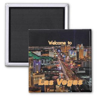 De Strook van Las Vegas bij Nacht Vierkante Magneet