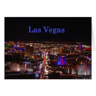 De Strook van Las Vegas Wenskaart