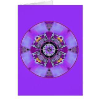 De Stroom van Chakra van de Kroon van Crystalized Kaart