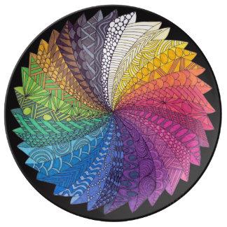 De stroomBord van de regenboog Porseleinen Bord