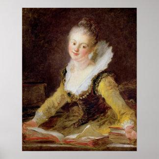 De studie, of het Lied, c.1769 Poster