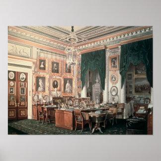 De studie van Alexander III bij Paleis Gatchina Poster