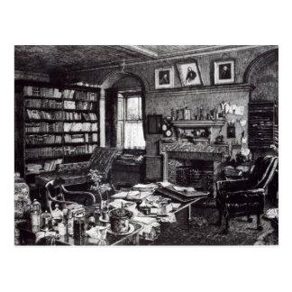 De studie van Charles Darwin bij BenedenHuis, 1882 Briefkaart
