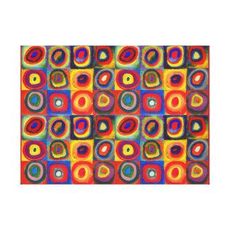 De Studie van de kleur door Wassily Kandinsky Canvas Afdruk