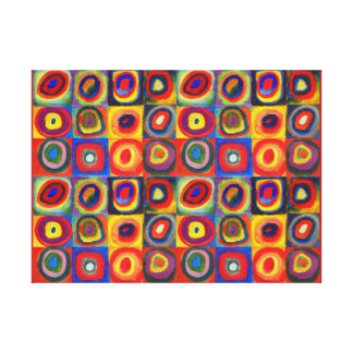 De Studie van de kleur door Wassily Kandinsky Stretched Canvas Prints