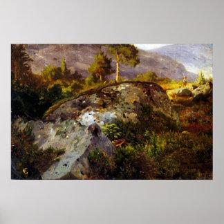 De Studie van het Landschap van Hans Gude van Vågå Poster