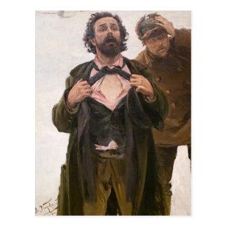 De Studie van Makovsky- aan 9 Januari, 1905 op Briefkaart