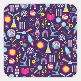 De Studies van de wetenschap Vierkante Sticker