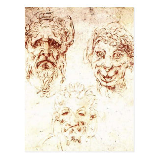 De Studies van Michelangelo- van Grotesques Briefkaart