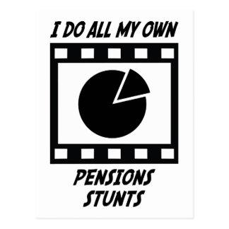 De Stunts van pensioenen Briefkaart